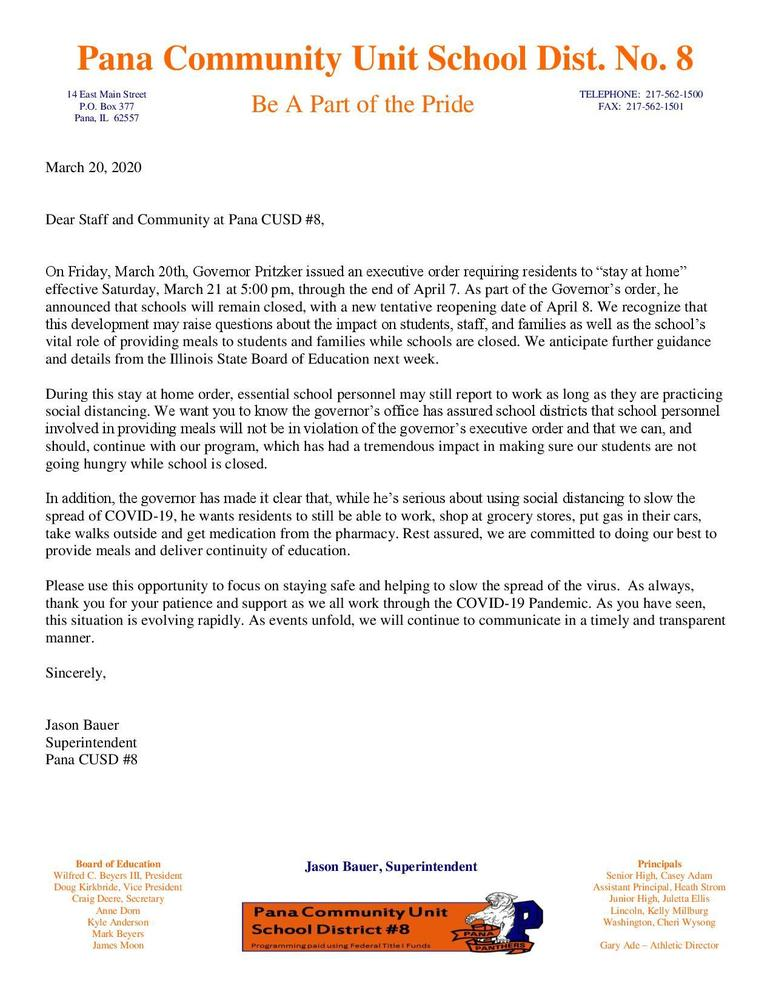 Health, Safety, and School Updates