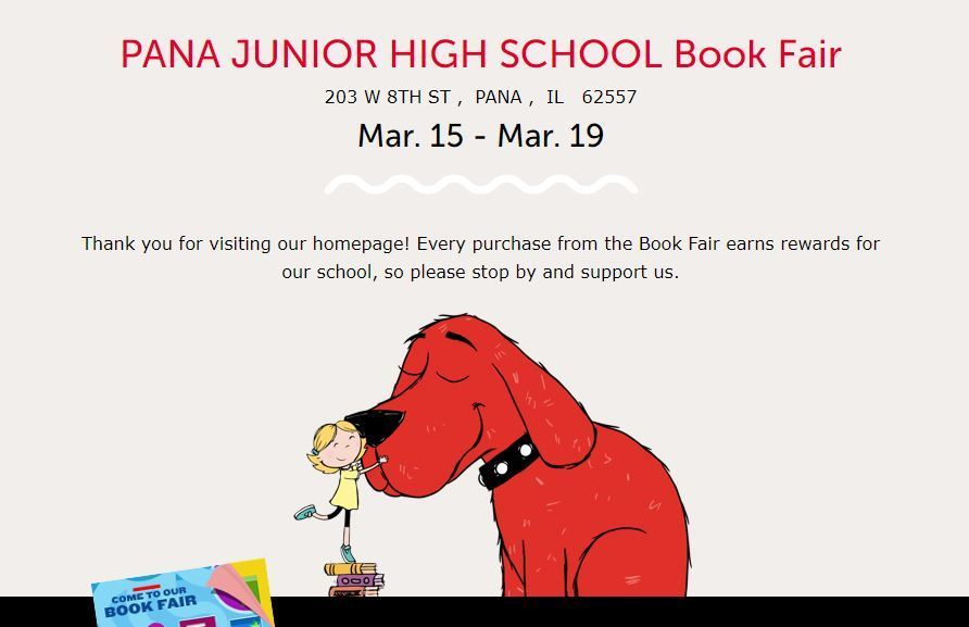 Scholastic Book Fair at PJHS is Coming Soon!