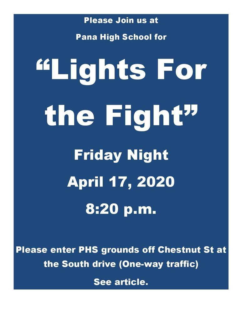 #LightsForTheFight PHS Fri April 17 8:20 p.m. Please read article for details. #ClassOf2020 #panthernation #weareallinthistogether
