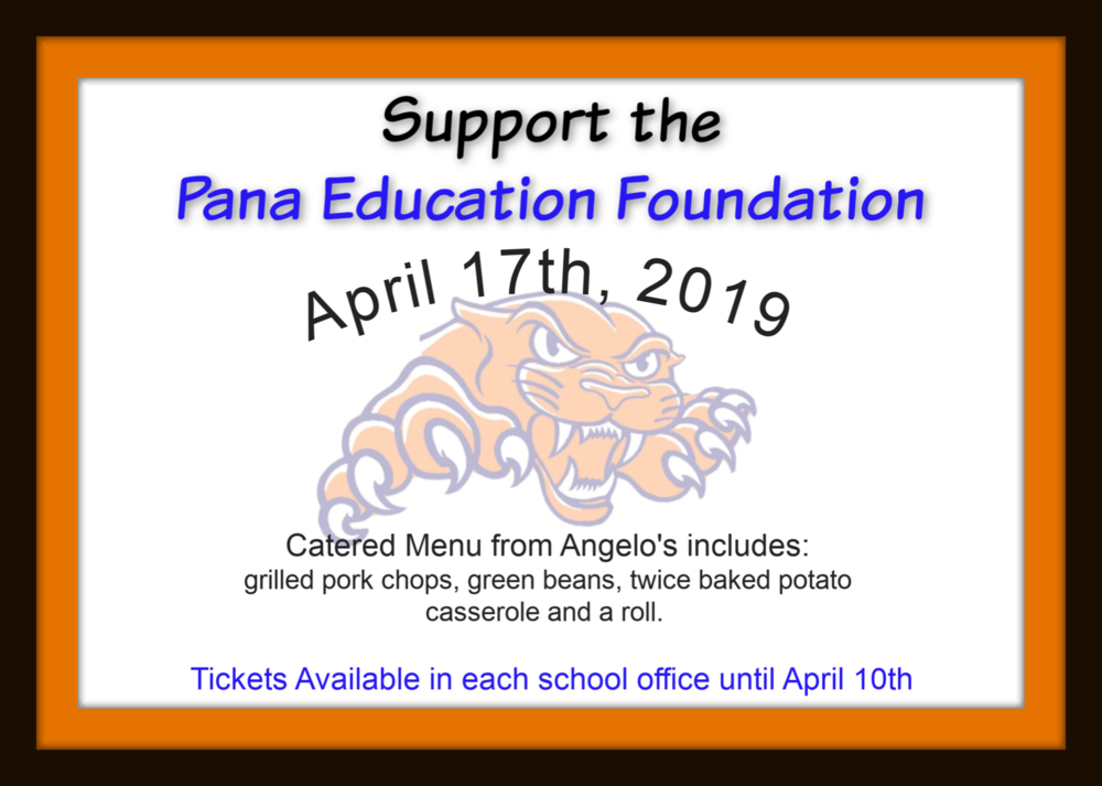 PEF Spring Fundraiser Tickets Available