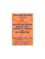 Pana Music Boosters Taco Salad Supper Thursday Feb 6
