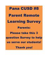 Parent Remote Learning Survey 4.16.20