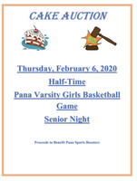 Sports Boosters Cake Auction Thursday February 6
