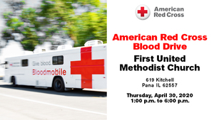 Red Cross Blood Drive Comes to First United Methodist Church on April 30th