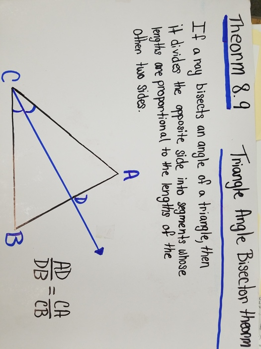 Angle bisector of a triangle.
