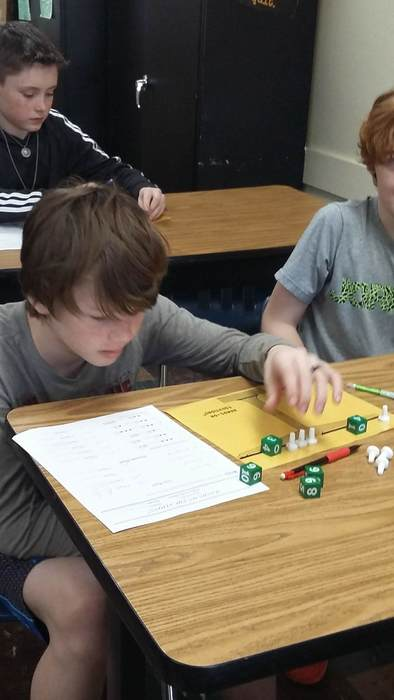 Solving Problems with Dice and Pawns
