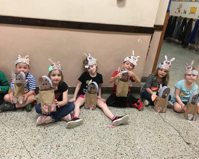 We had fun finding our bunny bags.