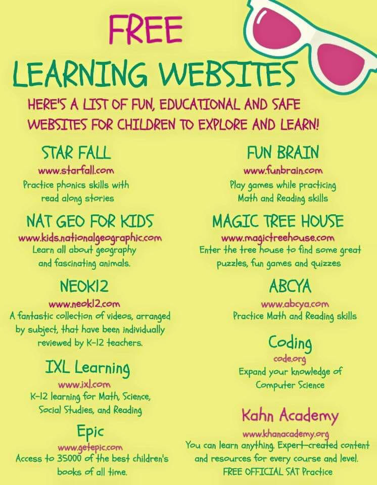 Educational Sites for Summer!