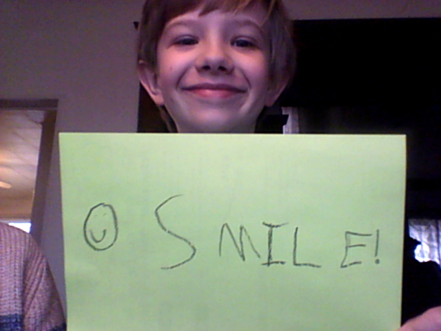 Ben wants to remind everyone to smile!